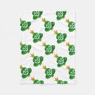 Couverture Polaire Dunette Emoji d'arbre de Noël
