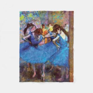 Couverture Polaire Edgar Degas - danseurs dans le bleu - amant de