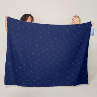 Couverture Polaire Édredon bleu classique de motif de peluche de