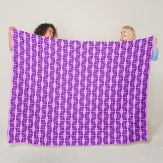 Couverture Polaire Édredon en soie de motif de licorne pourpre de
