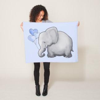 Couverture Polaire Éléphant mignon géant de bébé avec la crèche de