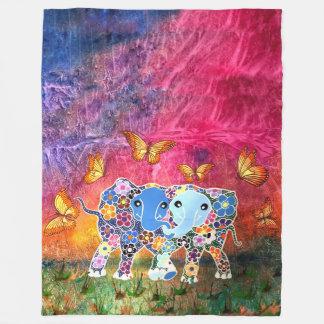 Couverture Polaire Éléphants de danse