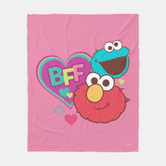 Couverture Polaire Elmo et monstre de biscuit - BFF