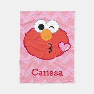 Couverture Polaire Elmo font face à jeter un baiser | ajoutent votre