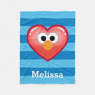 Couverture Polaire Elmo Heart| ajoutent votre nom
