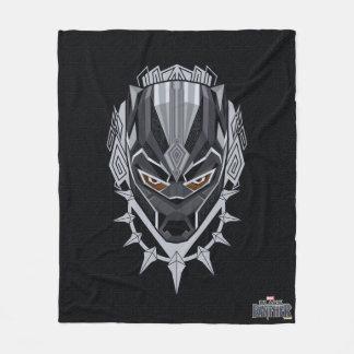 Couverture Polaire Emblème de tête de panthère noire de la panthère