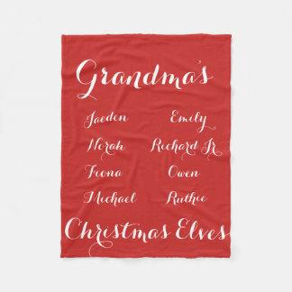 Couverture Polaire Entièrement elfes de Noël de Grandkids de