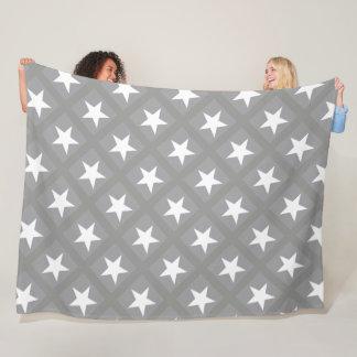 Couverture Polaire Étoiles grises élégantes de conception de couleur