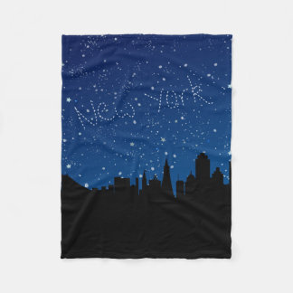 Couverture Polaire Étoiles, horizon, New York