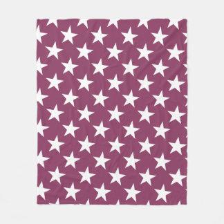 Couverture Polaire Étoiles modernes d'étoile de Bordeaux de