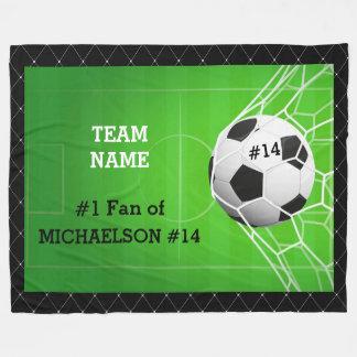 Couverture Polaire Fan du numéro un du football de joueur