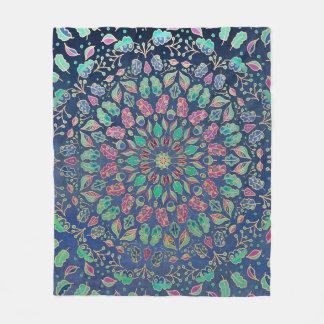 Couverture Polaire Feuille abstrait multicolore couvrant d'ouatine