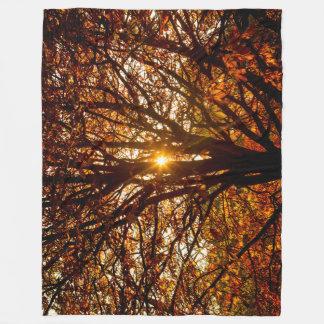 Couverture Polaire Feuille d'automne
