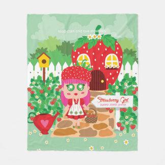 Couverture Polaire Fille de fraise