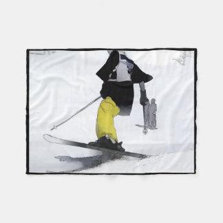 Couverture Polaire Finition de champion de ski