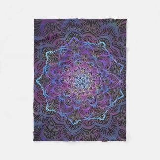 Couverture Polaire Fleur de Chakra, boho, nouvel âge, spirituel