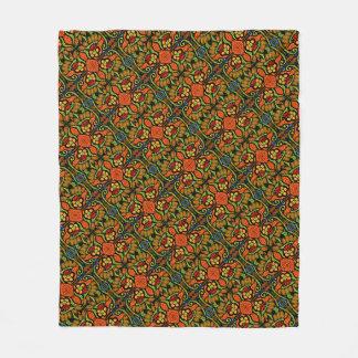 Couverture Polaire Fleurs colorées de pois de motif de coccinelle