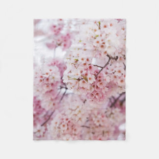 Couverture Polaire Fleurs de cerisier