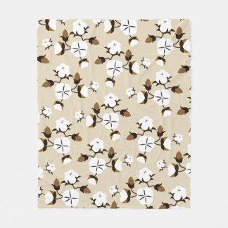 Couverture Polaire Fleurs rustiques de coton de ferme