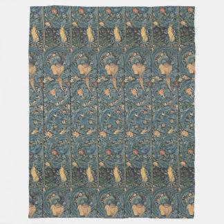 Couverture Polaire Flora vintage Morris Edward Burne-Jones