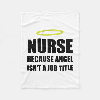 Couverture Polaire Fonction d'ange d'infirmière