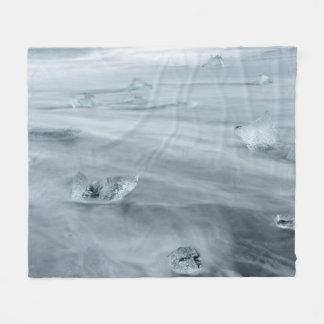 Couverture Polaire Glace et l'eau sur une plage, Islande