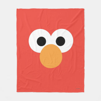 Couverture Polaire Grand visage d'Elmo