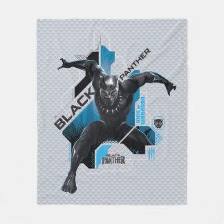 Couverture Polaire Graphique de pointe noir de caractère de la