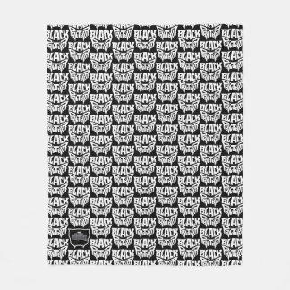 Couverture Polaire Graphique de typographie de tête de panthère de la