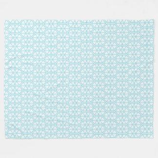 Couverture Polaire Hexagone en pastel hexagonal de motif géométrique