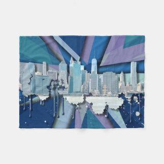 Couverture Polaire Horizon | 3D bleu de New York City