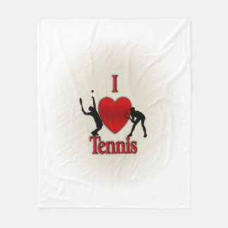 Couverture Polaire I tennis de coeur