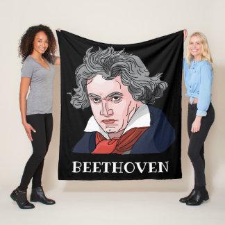 Couverture Polaire Illustration de portrait de Beethoven