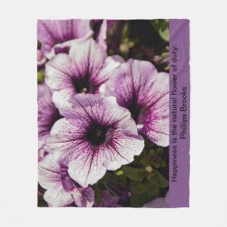 Couverture Polaire Iris pourpre avec la citation