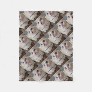 Couverture Polaire J'aime mon chat de Ragdoll