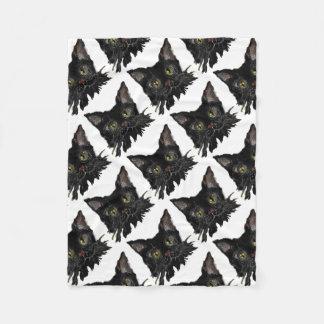 Couverture Polaire JASPE - votre chat noir de HALLOWEEN