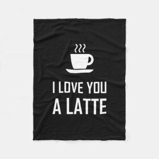 Couverture Polaire Je t'aime un buveur de café de Latte