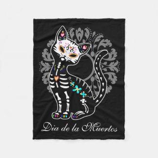Couverture Polaire Jour Girly du chat mignon mort