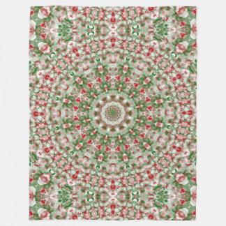 Couverture Polaire Kaléidoscope 12 de Noël
