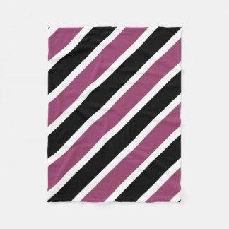 Couverture Polaire La diagonale noire pourpre blanche barre la petite