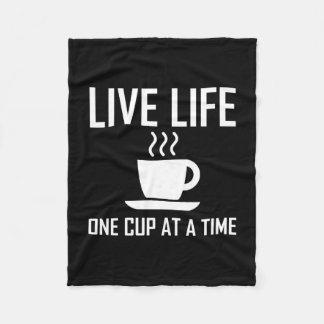 Couverture Polaire La vie vivante un buveur de thé de café de tasse à