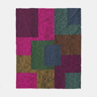 Couverture Polaire L'abrégé sur mosaïque bloque le motif de