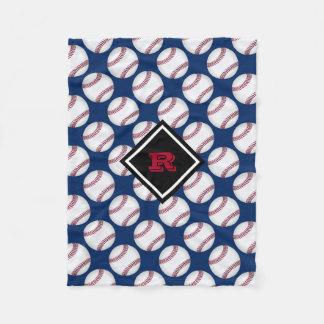 Couverture Polaire Le base-ball folâtre le bleu blanc rouge décoré