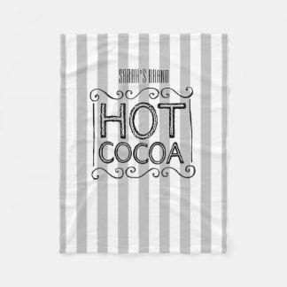 Couverture Polaire Le cacao chaud ajoutent votre nom