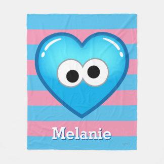 Couverture Polaire Le coeur | de biscuit ajoutent votre nom