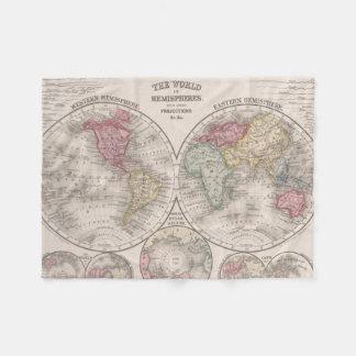 Couverture Polaire Le monde 1860 - oriental et hémisphères de l'ouest