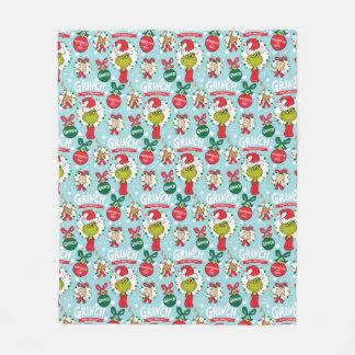 Couverture Polaire Le motif heureux de Grinch | Wholidays