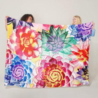 Couverture Polaire Le Succulent créatif plante l'aquarelle Artsy
