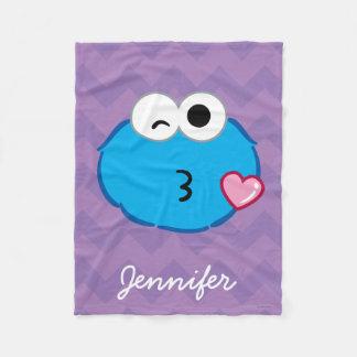 Couverture Polaire Le visage de biscuit jetant un baiser | ajoutent