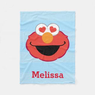 Couverture Polaire Le visage de sourire | d'Elmo ajoutent votre nom